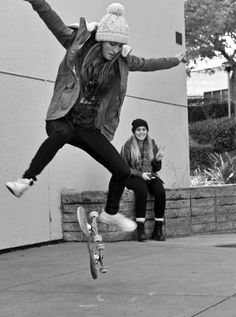 Nailing your trick while you friends nails the photobomb. I'd call that a win-win.