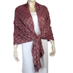 Amazon.com: Indian Handcrafted Red Pashmina Scarves Cashmere Wraps for Women Size: 80 x 28 Inches: Clothing