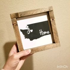 DIY Mini Framed Wood Sign – Make your own home decor with my DIY Wood Sign Kits… – Holidays How To Make Frames, How To Make Signs, Making Signs On Wood, Diy Wood Signs, Home Wood Sign, Country Farmhouse Decor, Country Wood Crafts, Country Wood Signs, Custom Stencils