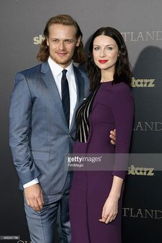 Actors Sam Heughan and Caitriona Balfe attend the 'Outlander' midseason New York premiere at...