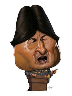 Caricature published in Veja magazine