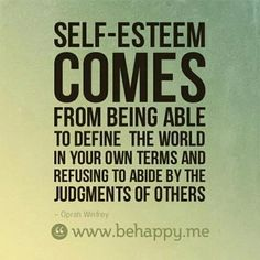 When people judge you for who you are, they are only reflecting your self-judgement back to you. The less you judge yourself and value who you are, the opinions of others won't have an impact anymore.