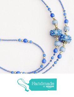 Beaded Lanyards, Beaded Necklaces, Id Holder, Blue Flowers, Swarovski Crystals, Badge, Amazon, Chain, Handmade