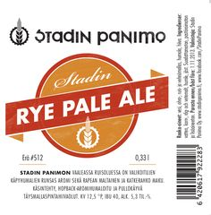 Stadin Panimo Rye Pale Ale (jaettu pullo 33cl Teron kaa SOPP 30.7.2011)