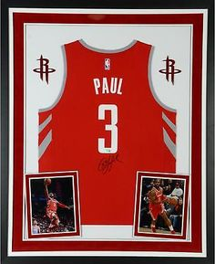 8e86df593c01 Chris Paul Houston Rockets Framed Signed Fanatics Fast Break Red Replica  Jersey  Basketball