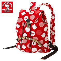 Hello Kitty Shaped 40th Anniversary Backpack w/ Snap Closure Pocket SANRIO JAPAN-01