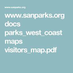 www.sanparks.org docs parks_west_coast maps visitors_map.pdf West Coast, Parks, Parkas
