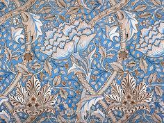 Windrush furnishing fabric, by William Morris. England, 1883