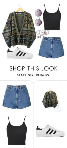"""""""Twist of 1989"""" by lolalitah ❤ liked on Polyvore featuring Glamorous, Topshop, adidas and Monki"""