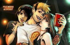 *Od lewej* Aki,  Craven,  Marika pentagram alchemist kattlett