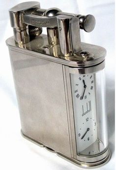 Dunhill lighter and clock so you can pace your cigarettes... lol