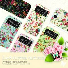 Flower View Flip Cover Case for Galaxy S4 IV