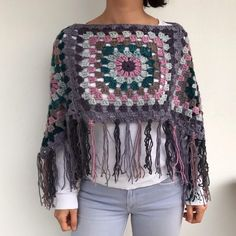 Transcendent Crochet a Solid Granny Square Ideas. Inconceivable Crochet a Solid Granny Square Ideas. Crochet Poncho Patterns, Granny Square Crochet Pattern, Crochet Afghans, Crochet Granny, Crochet Shawl, Hand Crochet, Crochet Baby, Crochet Squares, Hand Knitting