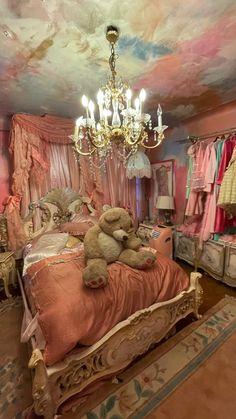 Room Decor Bedroom Rose Gold, Room Design Bedroom, Home Room Design, Magical Bedroom, Lorie, Victorian Bedroom, Indie Room, Aesthetic Room Decor, Bedroom Accessories
