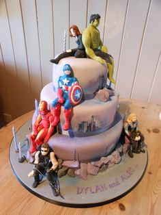 Marvel Comic Cake Designs