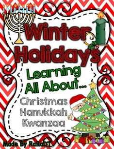 Not sure how to discuss the December holidays with your students? This easy-to-use set is a great tool to introduce your students to different cultures and holiday traditions.This set includes...*15 Christmas Vocabulary Cards*8 Hanukkah Vocabulary Cards*6 Kwanzaa Vocabulary Cards*Kwanzaa Traditions Mini Book*Kwanzaa Candle Craftivity & Templates*Hanukkah Informational Text Page*Menorah Fact/Opinion Craftivity & Templates*All About Christmas Book (Your students will use their schema to...