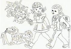 Картина панно рисунок Начало учебного года Вырезание Дети в школу собирайтесь Бумага фото 5