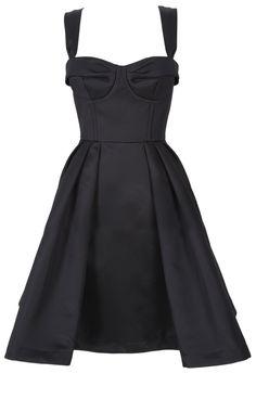 corset boudoir dress black