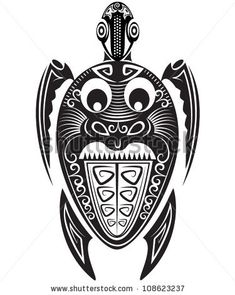 Turtle - maori style by soosh, via ShutterStock