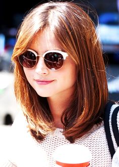 Jenna Coleman on the set of Doctor Who 6/19/14