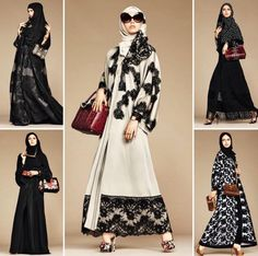 If you had any doubt that Arab shoppers were a force to be reckoned with, just look to Dolce & Gabbana's latest designs: an abaya collection, made specially with its Arab shoppers in mind. Islamic Fashion, Muslim Fashion, Modest Fashion, Modest Outfits, Girl Fashion, Womens Fashion, Fashion Design, Hijab Collection, Middle Eastern Fashion