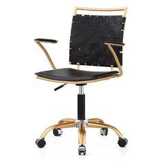 Black Modern Desk Chair #modernpoolblack
