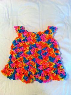 """Crochet """"Tie Dye"""" Baby Dress"""