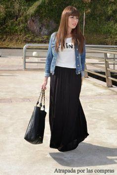 Looks con falda larga, aprende cómo combinarla