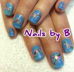 #nailart #handpainted #nailsbyb #gelpolish