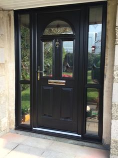 Add A Touch Of Glamour To Your Home With Our Skiddaw Composite Door And Glazed Side