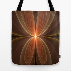 Wings Fractal Art Tote Bag by Gabiw Art | Society6 - printed Tote Bag with the Design on both Sides