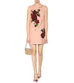 Dolce & Gabbana - Abito in lana con decorazione - mytheresa.com