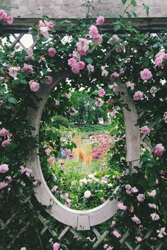 If you are thinking of rose gardening don't let this rumor stop you. While rose gardening can prove to be challenging, once you get the hang of it, it really isn't that bad. Pink Garden, Love Garden, Dream Garden, Shade Garden, Beautiful Gardens, Beautiful Flowers, Landscape Design, Garden Design, English Landscape Garden