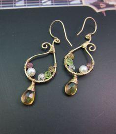 14K Gold Citrine Earrings, November Birthstone Earrings, Yellow Gemstone Earrings, Yellow Dangle Earrings, Birthday Gift