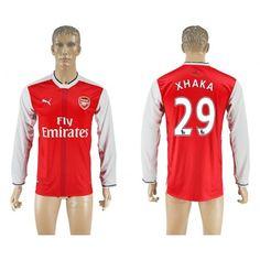 Arsenal 16-17 #Xhaka 29 Hjemmebanetrøje Lange ærmer,245,14KR,shirtshopservice@gmail.com