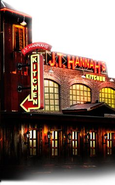 J.T. Hannah's Kitchen | Burgers Steaks Ribs Pasta | Order from our All-American menu and try the best tastes in Tennessee! You'll drool over one of our delicious burgers or deluxe sandwiches. Feel the sizzle of our signature steak and seafood entrees, or sample one of J.T. Hannah's Specialties such as our award-winning St. Louis Spare Ribs!