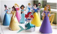 поделки из бумаги с детьми, бумажное моделирование, куклы из бумаги, мастер-класс, творчество с детьми, принцессы диснея, Рапунцель, Золушка, Красавица, Мулан, Жасмин, Русалочка, Похахонтос, Белоснежка