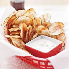 Salty Snack Recipes: Potato Chips with Blue Cheese Dip | CookingLight.com
