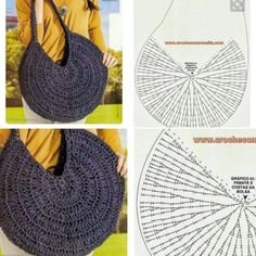 Diy Crafts - Crochet Bag / Simple And Beautiful Croch Beautiful - Diy Crafts Bag Pattern Free, Tote Pattern, Bag Patterns To Sew, Crochet Patterns, Beau Crochet, Free Crochet Bag, Crochet Bags, Crochet Girls, Diy Crafts Knitting