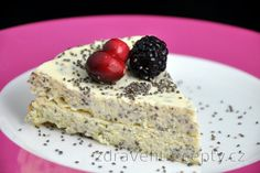 Cottage Cheese Cake with Poppy or Chia Seeds (Gluten Free) - Joghurt rezepte Sin Gluten, Gluten Free, Stevia, Queijo Cottage, Fruit Sauce, Sweet Recipes, Healthy Recipes, Vegetarian Cheese, Cottage Cheese