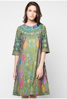 Dress Sinaran from Griya Batik MAS Blouse Batik, Batik Dress, Lace Dress, Dress Batik Kombinasi, Mode Batik, Batik Kebaya, Batik Fashion, Korean Dress, Gala Dresses