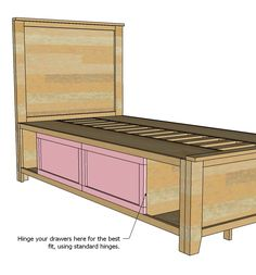 Ana White   Build a Hailey Storage Bed - Twin   Free and Easy DIY Project and Furniture Plans