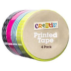 Printed Tape - Set of 4 Craft Supplies Online, Home Entertainment, Tape, Arts And Crafts, Packing, Entertaining, Printed, Christmas 2014, Scrapbooking