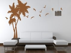 I like this idea - beautiful and simple, but in black and white with the other walls painted turquoise...