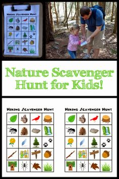 Hiking / Nature Scavenger Hunt - free printable!
