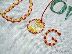 Tutorial: hand embroidery lettering & text, combining stitches & colors #embroidery #diy #crafts