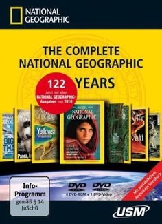 The Complete NATIONAL GEOGRAPHIC - 120 Years (6 DVD-ROMs + 1 DVD-Video) (PC+Mac)