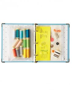 Organize your emergency sewing kit. Cute idea!