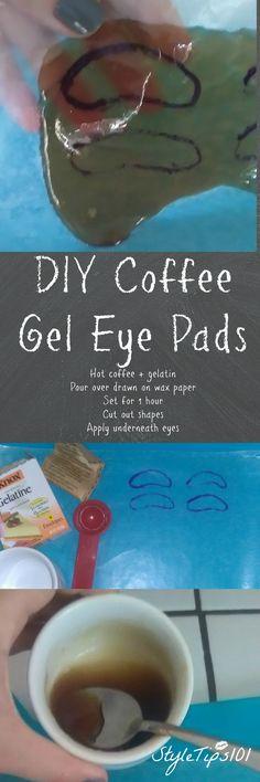 DIY Coffee gel eye pads