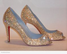 0fc73a7d545 Christian Louboutin YouYou strassed in Jonquil AB Swarovski crystals.  Beautiful! Designer Wedding Shoes